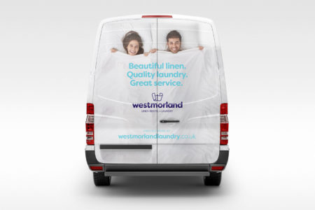New-look Westmorland Laundry van